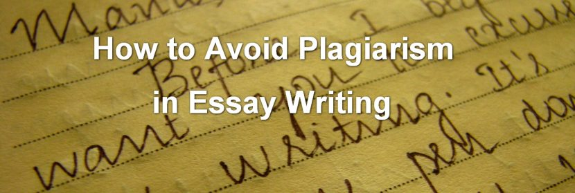 plagiarism writing essay