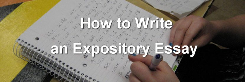How to write expository essays